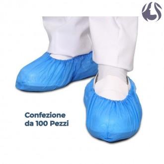 Copriscarpe Monouso Blu in Polietilene Cpe 100pz - IVA 5%