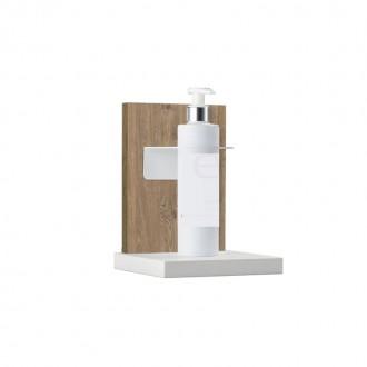 Supporto da Banco Porta Gel Igienizzante - Wood Bicolor - IVA 5%